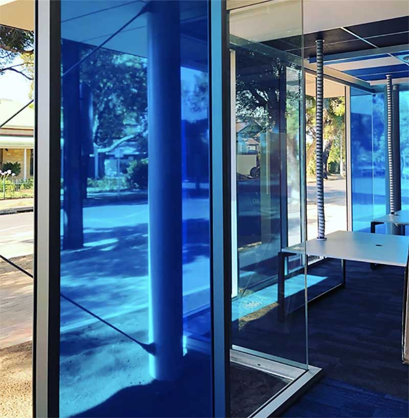commercial coloured window tinting in Adelaide